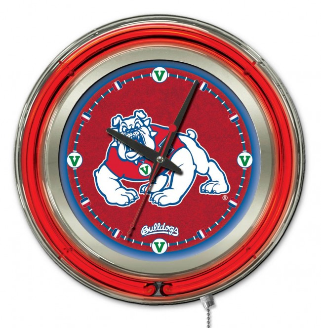 15 neon fresno state logo clock pool tables r us