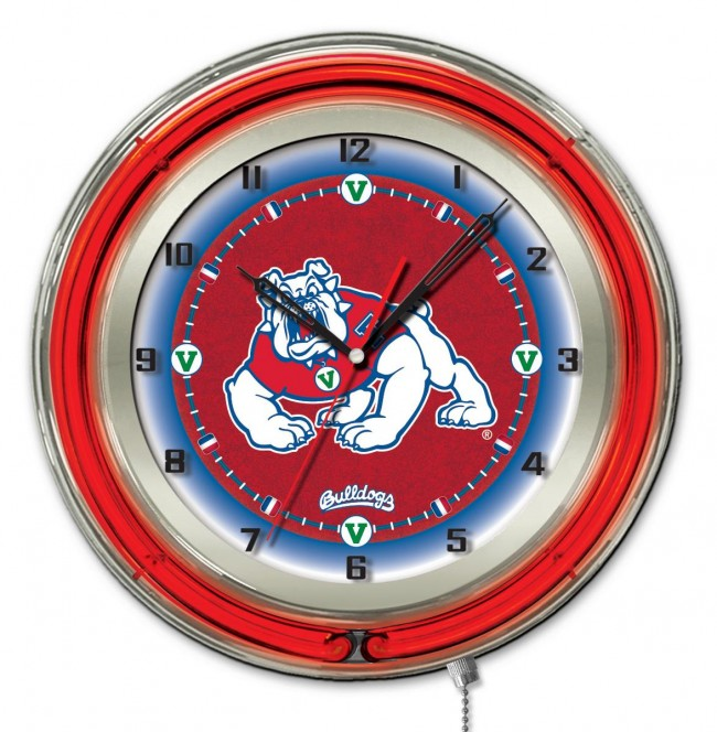 19 neon fresno state logo clock pool tables r us