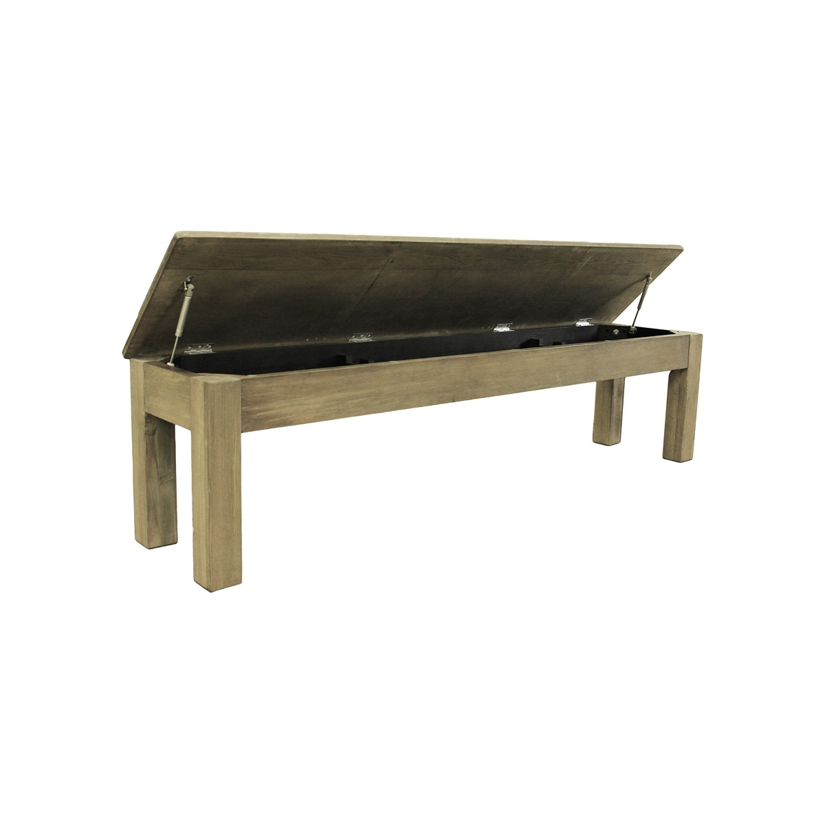 Weathered Grey 76 Inch Long Bench Pool Tables R Us